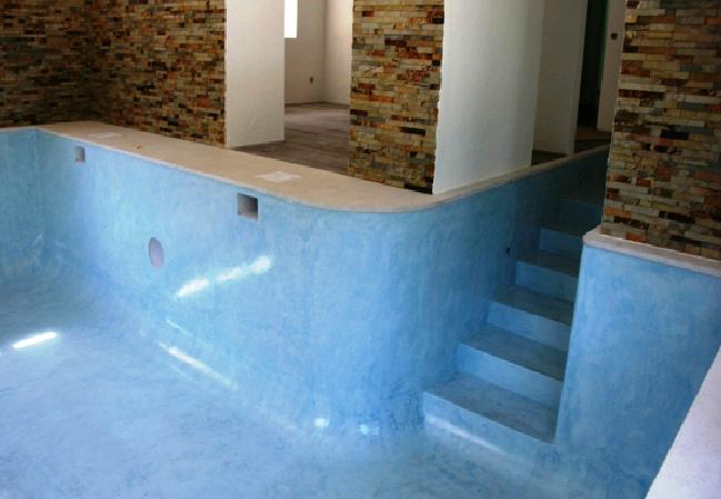 Revestimentos swimmingpool - Aplicacion de microcemento en paredes ...